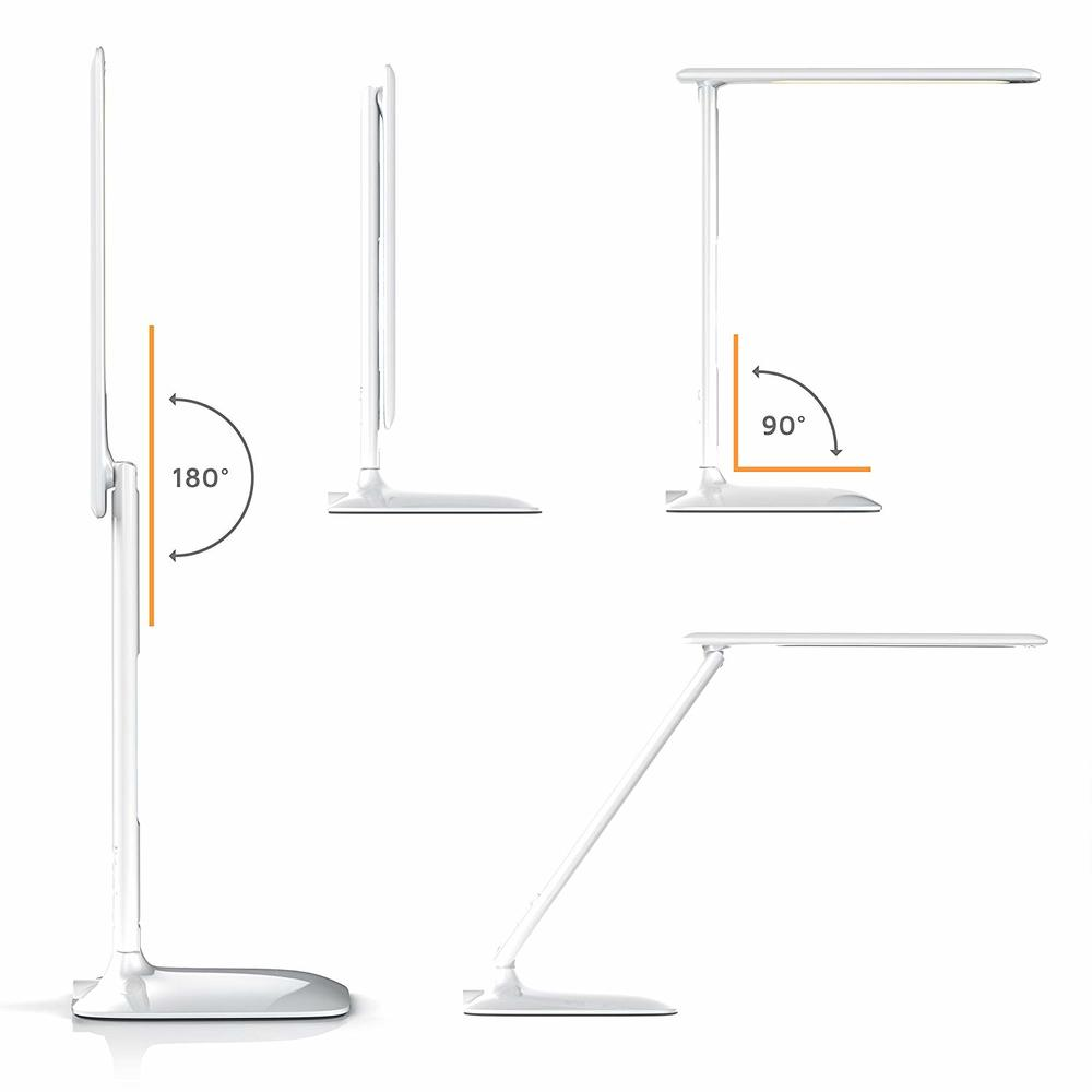 LED Desk Lamp Temperature Alarm and Calendar Function 3 Light Colors 5 Brightness Levels Touch Dimmable Lighting for A Dorm Room in Desk Lamps from Lights Lighting