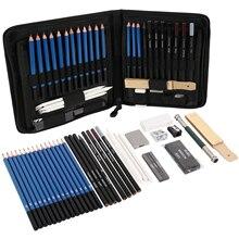 40 pièces Kit de crayons de dessin de croquis professionnel marqueurs dart ensemble doutils de peinture pour dessin détudiant