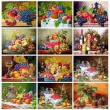 5d алмазная живопись полная выкладка квадратные фрукты вышивка
