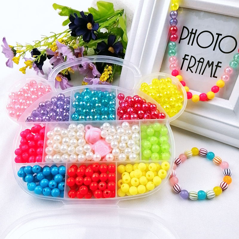 Bear Paragraph DIY Children Bead Toy Weak Sight Correct Bead Educational Toy GIRL'S Handmade Wear Beads Set