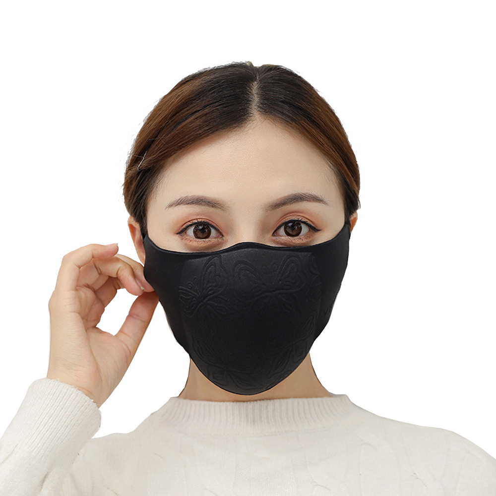 1Pcs 3D Cropped Pollution Mask Anti Air Dust And Smoke Pollution Mask Windproof Washable Mask Made For Men Women