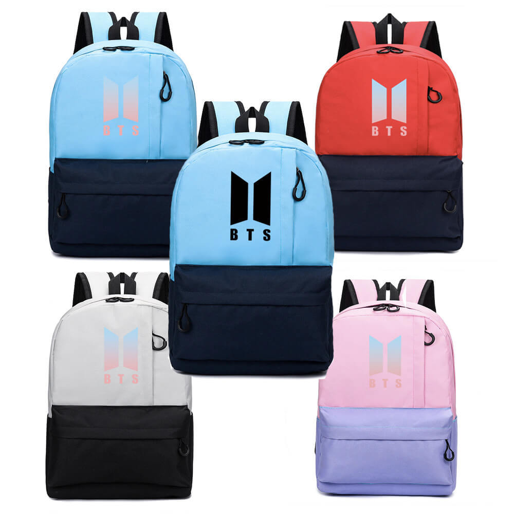 BTS Bulletproof Boys Celebrity Style Fashion Schoolbag Canvas Backpack Korean-style Backpack Trend Manufacturers Direct Selling