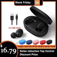 Auriculares inalámbricos Bluetooth Xiaomi Redmi Airdots TWS estéreo bass Airdots 5,0 Eeadphones con micrófono manos libres Control AI