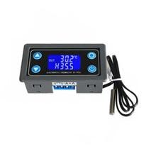 Цифровой термостат 10 А, регулятор температуры 6 в 30 В постоянного тока, термостат, термостат, ЖК дисплей, датчик 12 в 24 В