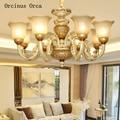 Европейская цветная окрашенная Белая Керамическая люстра для гостиной  столовой  спальни  французская Роскошная креативная Ретро светодио...
