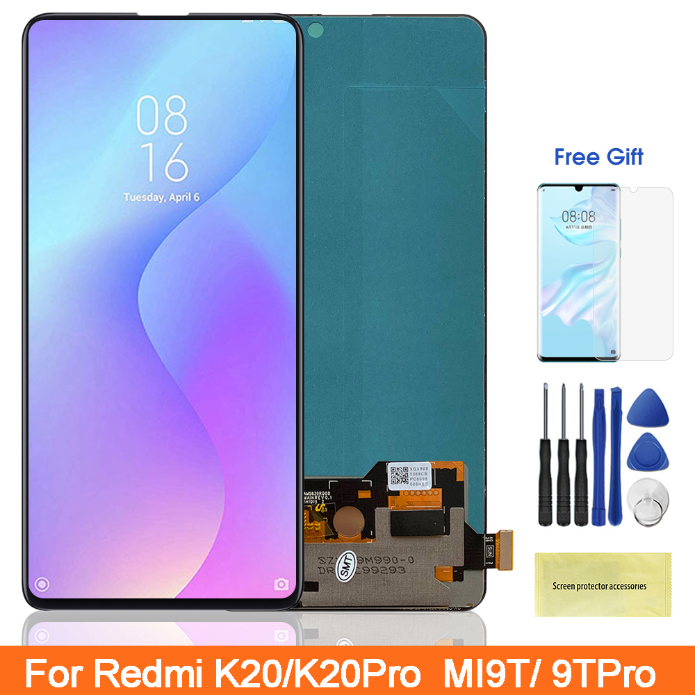 "6.39"" Super Amoled Mi 9T Pro LCD For Redmi K20 Pro Lcd display Touch Screen Digitizer Parts For Xiaomi9T MI9T Pro Redmi K20 Lcd(China)"