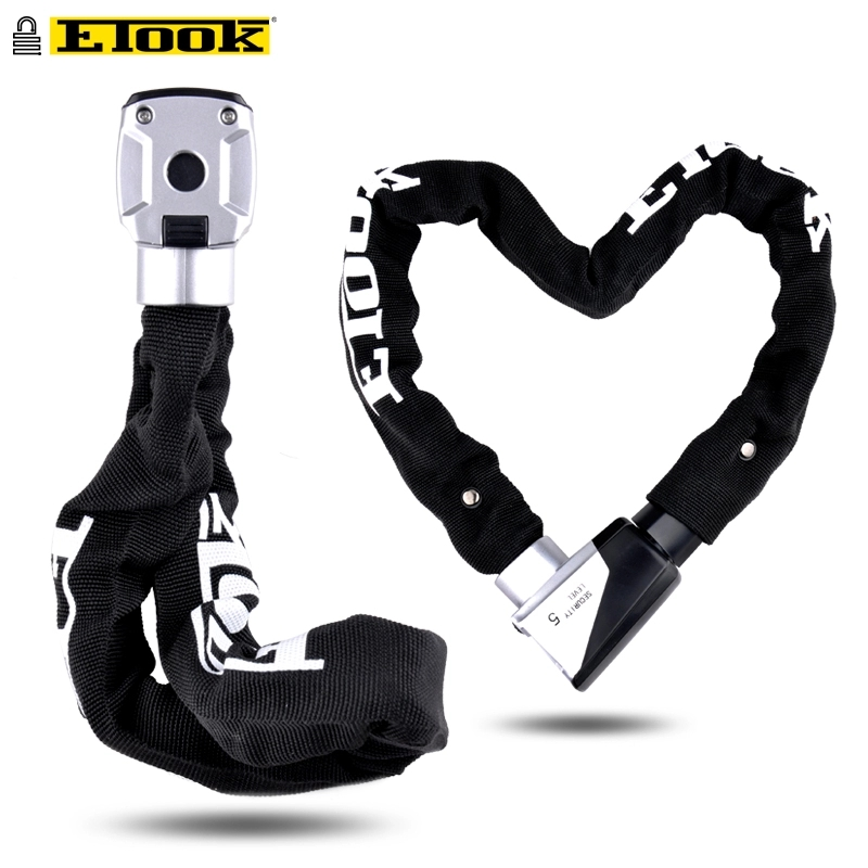 Etook Bike Chain Motorcycle Lock Security Mtb Lock for Anti 12 Ton Hydraulic Shear Reflective Logo ET555