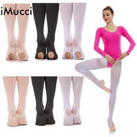 IMucci Women Ballet Convertible Tights Girl Pink Velvet Leggings Adult Pantyhose Dance Tights White Legging Gymnastics Collant