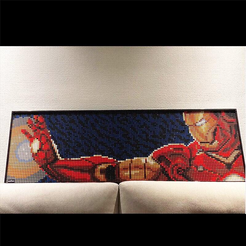 Avec boîte nouveau Star wars peinture décorative Pixel Art mosaïque peinture Super Star Avatar bloc de construction cadeau ART 31199 31197 31198