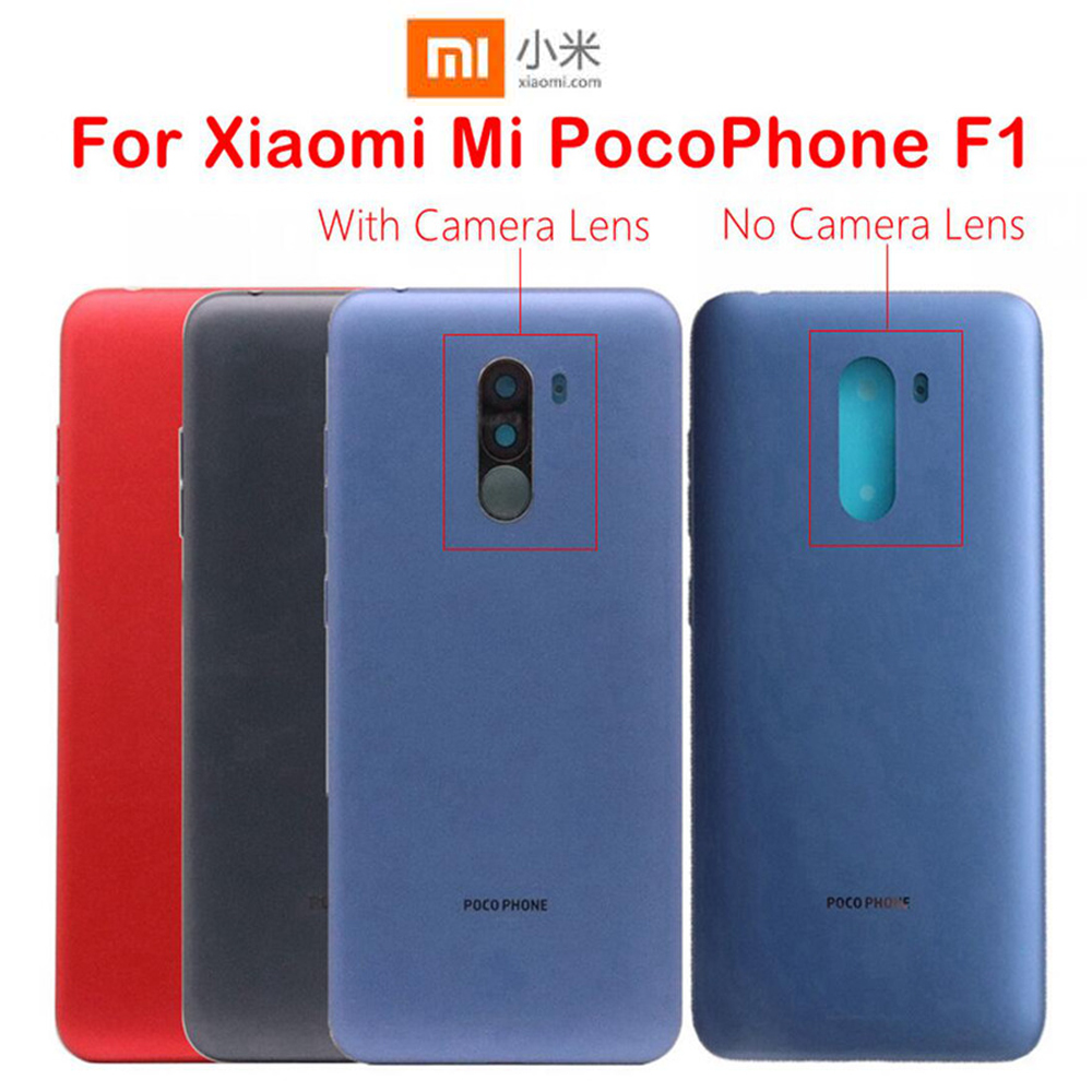 Sinbeda Back Cover For Xiaomi MI Pocophone F1 Back Housing With Lens Glass For Xiaomi F1 Battery Cover For Pocophone F1 Repair