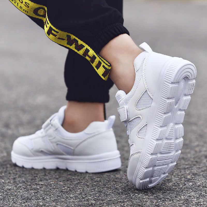 2019 ฤดูใบไม้ผลิฤดูหนาวเด็กสาวสบายๆรองเท้าเด็ก Breathable Non-slip รองเท้าสีขาวรองเท้าผ้าใบเด็กวัยหัดเดินรองเท้าเด็กผู้หญิงรองเท้าผ้าใบ
