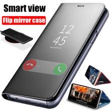 Smart Mirror Flip Phone Case For Samsung Galaxy S21 S20 S10 S9 S8 Plus S20FE Note 20 Ultra 10 Lite 9 8 A20 A30 A50 A71 A51 Cover