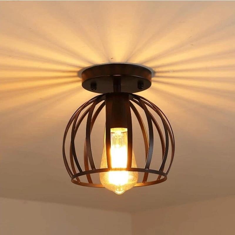 Retro Industrial Ceiling Light Indoor Lighting Ceiling Lamp Metal Nordic Flush Mount Ceiling Lights Fixture For Kitchen Hallway Ceiling Lights Aliexpress