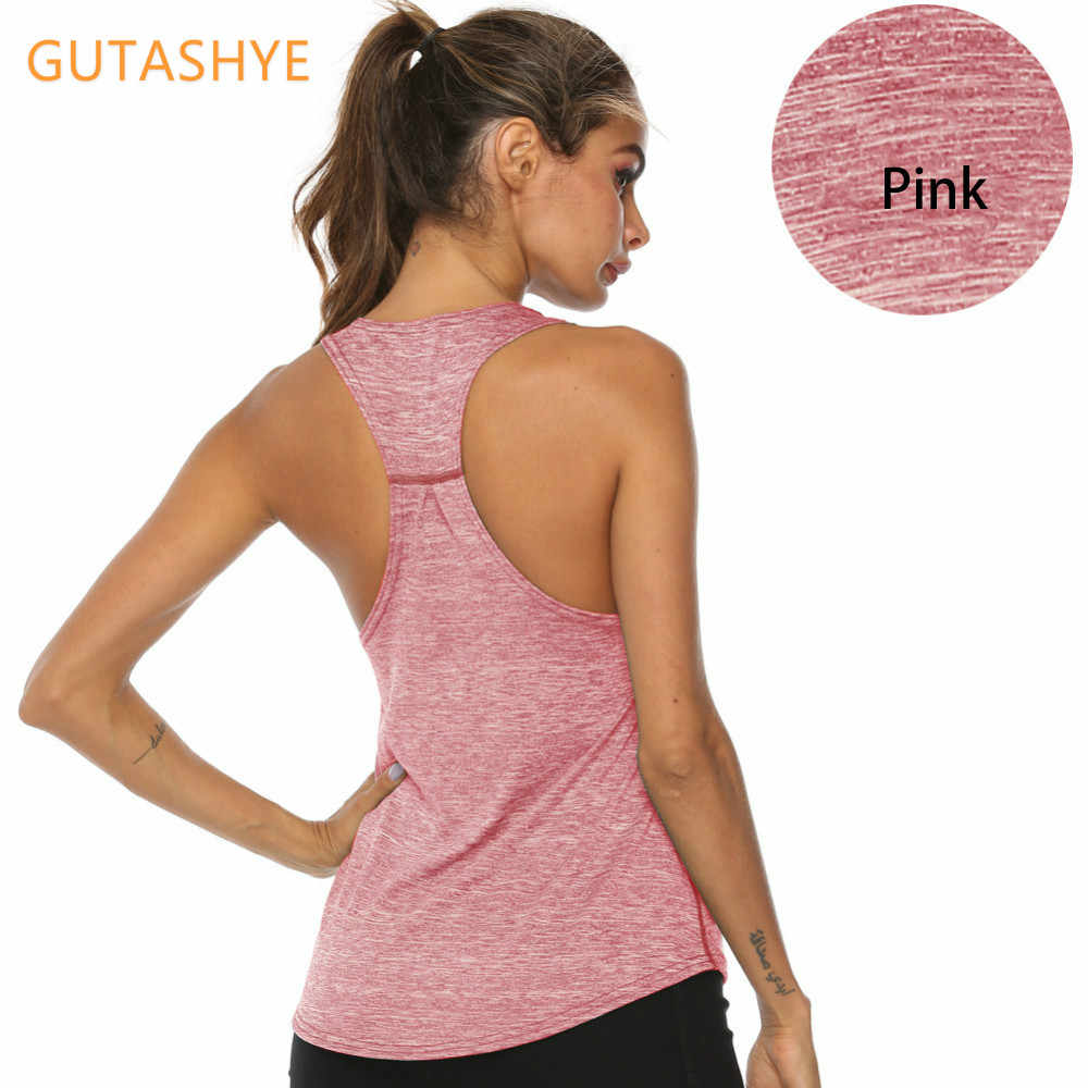 Womens Fitness Gym Sports Blouse Tank Top Seamless Stretch Vest Quick-dry Shirt
