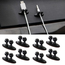8pcs Adhesive Car Charger Line Holder USB Cable Clip Interior Accessories Auto Fastener & Supplies