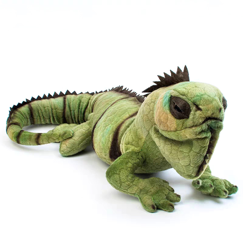 66cm Real Life Lizard Plush Toy Realistic Stuffed Wild Animals Toys Lifelike Green Lizards Toy Gifts For Children