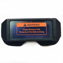 Automatyczne fotoelektryczne okulary spawalnicze zasilane energią słoneczną automatyczne przyciemnianie maska do spawania kask gogle do oczu szkło spawalnicze tanie tanio CN (pochodzenie) NYLON 155*70mm