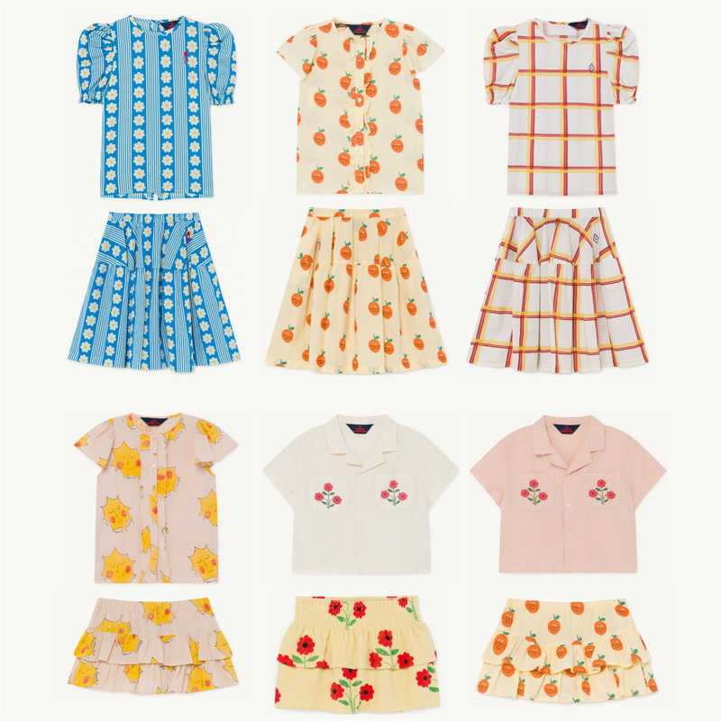 Kids Shirts 2020 TAO Brand New Spring Summer Girls Fashion Print Blouses Baby Child  Cotton Tops Clothes