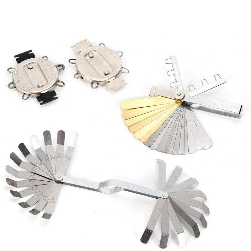 Feeler Gauge Set For Ignition Valve Tappet 4Pcs Metric Master Feeler Gauge Set For Ignition Valve Tappets Tools