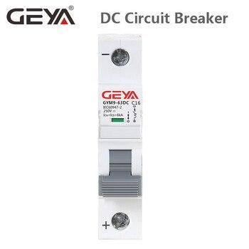 GEYA Din Schiene DC MCB 6KA 1P 250V 6A 10A 16A 20A 25A 32A 40A 50A 63A DC circuit Breaker