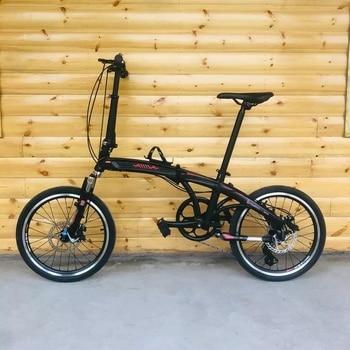 20 Cal 8 prędkości rower składany z hamulcami tarczowymi ramka ze stopu aluminium rower samochodowy przenoszenia jazda na rowerze grać