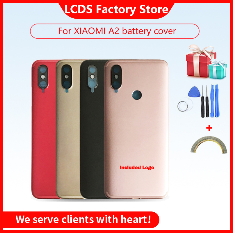 <font><b>Battery</b></font> Back Cover For Xiaomi <font><b>MI</b></font> <font><b>A2</b></font> <font><b>Battery</b></font> Cover Back <font><b>Case</b></font> For Xiaomi 6X Back Cover Housing +Volume Power Buttons Cameca Lens image