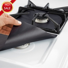 2pcs/4pcs Reusable Non stick Foil Range Stovetop Burner Protector Liner Cover For Cleaning Kitchen Tools Protection