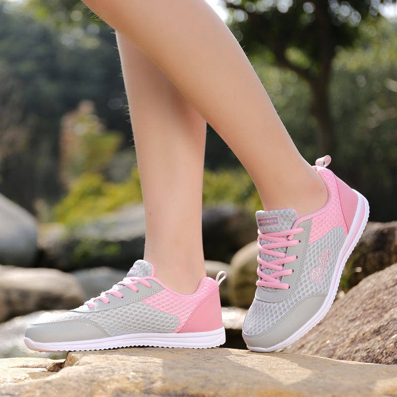 New Model In Summer 2019 Mesh (Air Mesh) Lace-Up  Sport Shoes Woman  Zapatillas Hombre Deportiva  Women Designer Sneakers Women