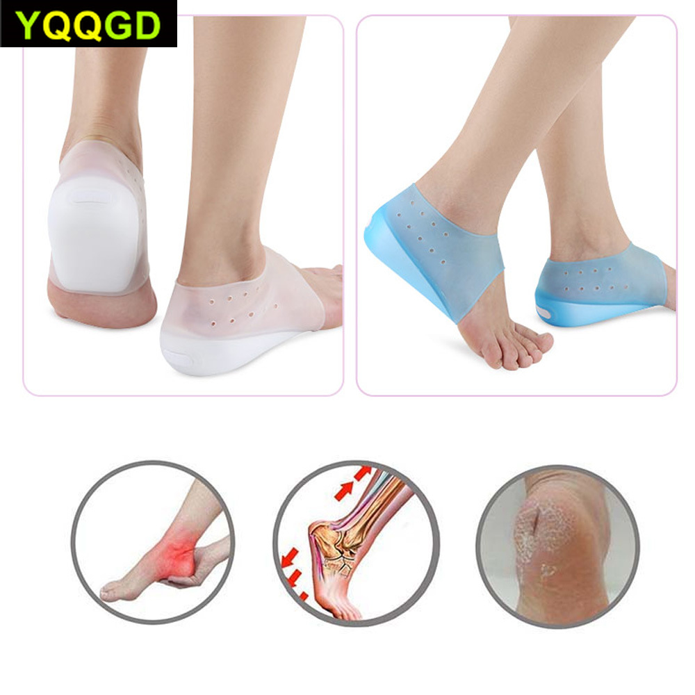 Invisible Height Lift Heel Pad Sock Liners Increase Insole Pain Relieve Pad