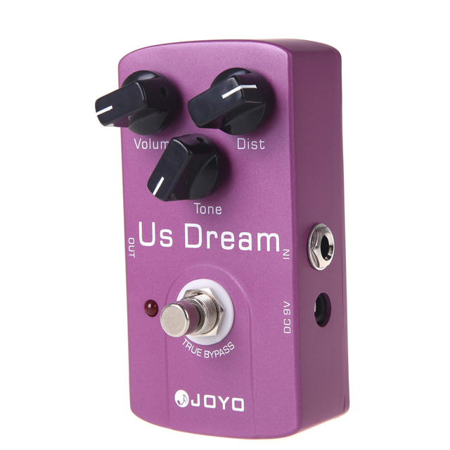 JOYO JF 34 US Dream Distortion Guitar Effect Pedal Aluminum Alloy Body True Bypass Effects Pedals Guiltar Accessories