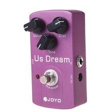 Joyo JF 34 eua sonho distorção pedal efeito guitarra liga de alumínio corpo verdadeiro bypass efeitos pedais acessórios guiltar