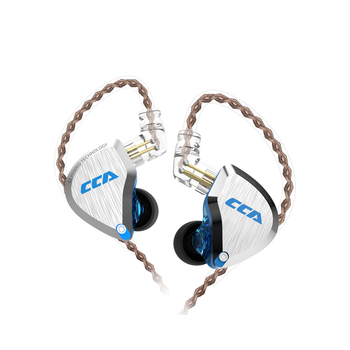 CCA C12 5BA+1DD Metal Hybrid HiFi Bass Earbuds 12 Units in Ear earphones Monitor Noise Cancelling earphones