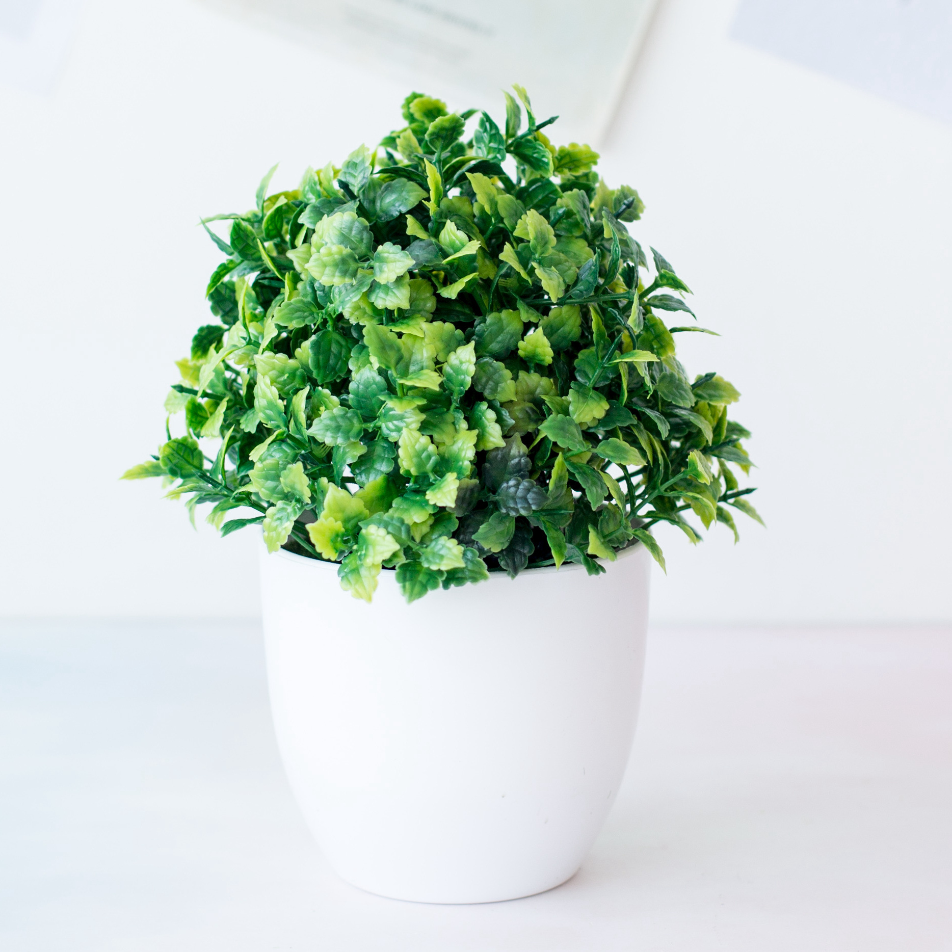 1pc Artificial Plants Green Bonsai Small Tree Pot Plants Fake Flower Potted Ornaments for Home Decoration Craft Plant Decorative 4