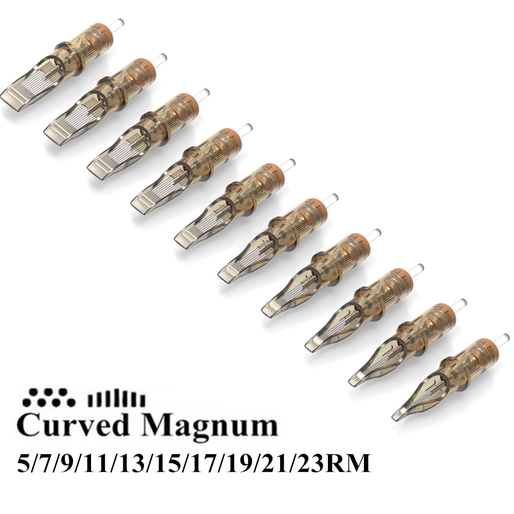 20pcs Disposable Sterilized Ambition Tattoo Cartridges Needle Curved Magnum 5/7/9/11/13/15/17/19/21/23RM