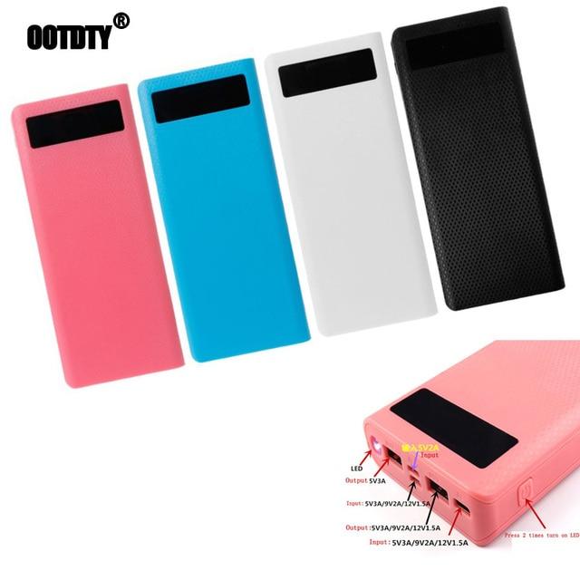Duplo usb qc 3.0 8x18650 bateria diy power bank box carregador para iphone xiaomi celular tablet