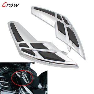 2pc Motorcycle Chrome Fairing Tank Trim For Honda Goldwing GL 1800 2001 2002 2003 2004 2005 2006 2007 2008 2009 2010 2011 ABS