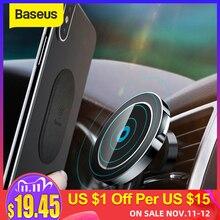 Baseus المغناطيسي شاحن سيارة لاسلكي حامل آيفون X 8 8Plus المغناطيس حامل هاتف السيارة شاحن لاسلكي لسامسونج S9 S8 S7