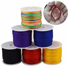 45m x 0.8mm Nylon Cord Thread Chinese Knot Cord Macrame Bracelet Braided StringDIY Tassels Beading Handmade(China)