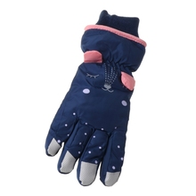 Kids Winter Waterproof Snow Gloves Cartoon Ears Thermal Insulated Ski Mittens M68D