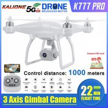 2020 Nieuwste K777 Pro Drone 3 Axis Gimbal Camera Hd 4K Gps 5G Wifi Profissional Borstelloze Rc Quadcopter 1Km 22 Minuten Drones Vs X35(China)