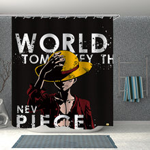 Popular Anime One Piece 3D Print Shower Curtain Polyester Fabric Bathroom Curtain Waterproof Hook Bath Curtain 03(China)