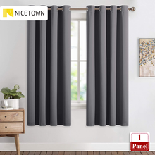 NICETOWN 1PC Blackout Curtain Drape Panel Three Pass Microfiber Noise Reducing Thermal Insulated Window Drape for Living Room