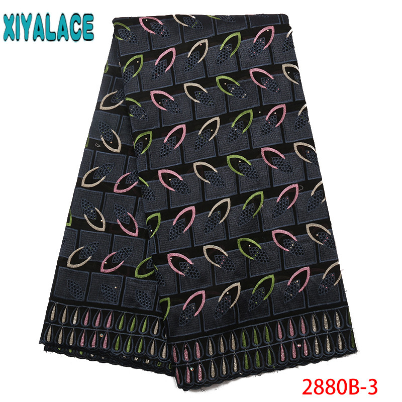 African Lace Fabric 2019 High Quality French Lace Swiss Voile Suisse Nigerian Embroidery Lace For Women KS2880B-3