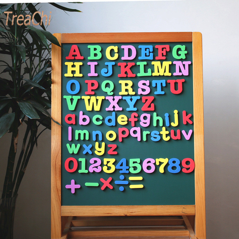 EVA Magnetic Alphanumeric Refrigerator Paste Blackboard Letters and Numbers Magnetic Sticker Kids Early Education Home Decor
