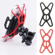 Bicycle Silicone Band Elastic Rubber Net Bandage Belt Tie Clip Mount Fixing  Holder For Smart  Navigation Phone Mobile lichao 8112705 bike elastic silicone fixing bandage for cellphone tool stop watch more black