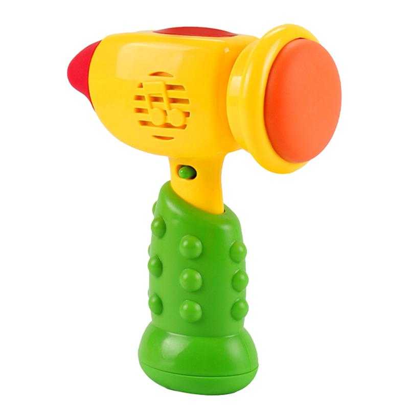 Cartoon Kids Hammer Toy Musical Beating Toy Funny Educational Toy (No Battery)