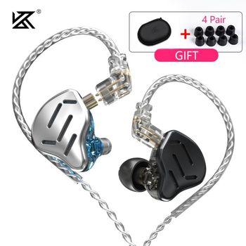 KZ ZAX 16 Drivers Units 7BA+1DD Hybrid In Ear Earphone HIFI Headset Noise Cancelling Earbud KZ ZSX ZS10 PRO EDX CCA CA16 C10PRO