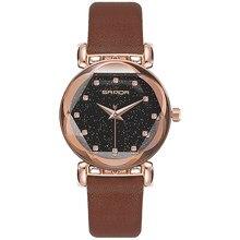 SYNOKE femme montre Cristal luxe femmes montres avec Bracelet dames en cuir montre femme petit cadran relojes mujer 2019