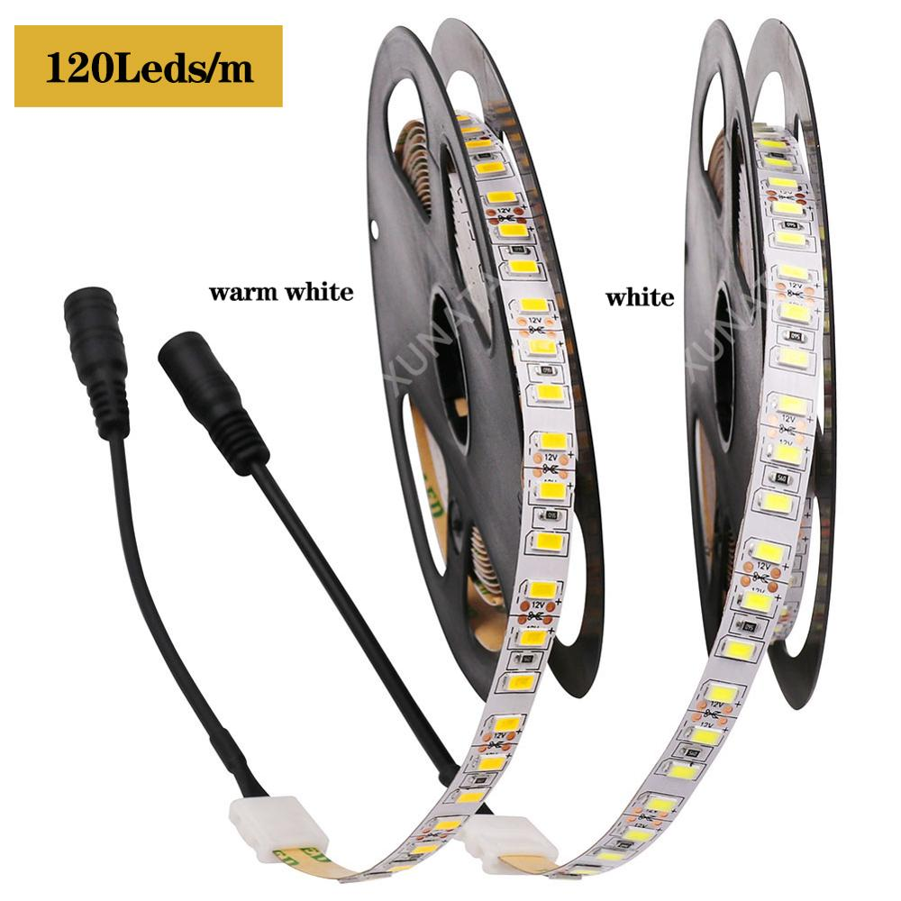 0.5m 1m 2m 3m 4m 5m DC12V LED Strip Light SMD 5630 120Leds/m Led Tape Light 10MM PCB Flexible LED Light Strip With DC Connector