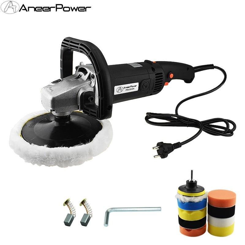 6 Speed Adjustable 1400W Car Polisher Electric Floor Polisher Polishing Variable Speed Machine Auto Politriz Sanding Machine